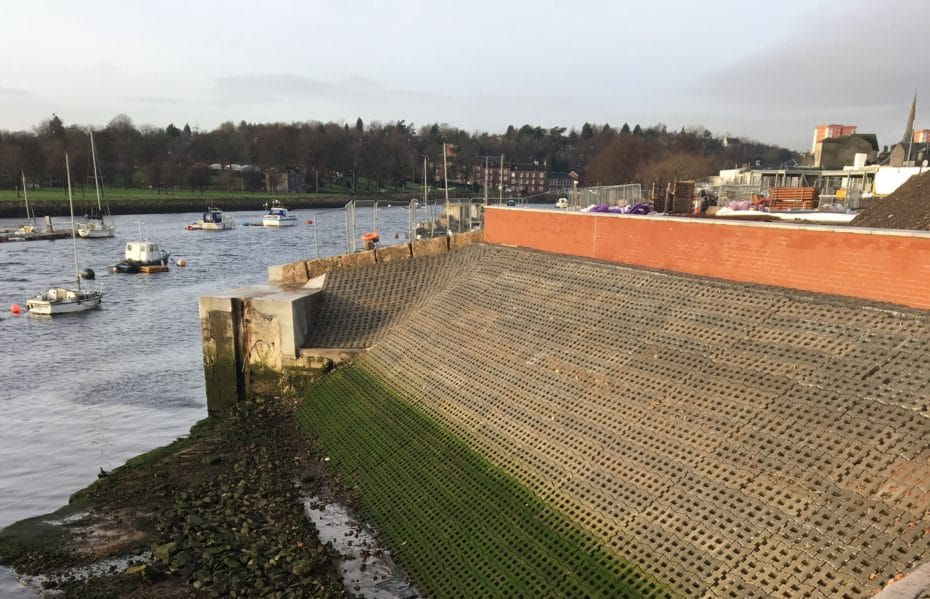 Dunbarton Harbour construction by Castle Group Scotland